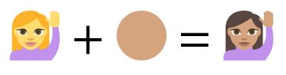 将单人字符与肤色合成